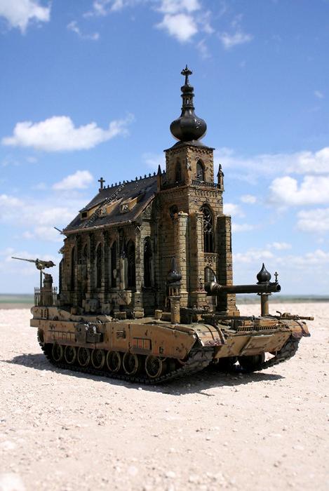Churchtanks: церкви-танки в скульптурах Криса Кукси (Kris Kuksi)