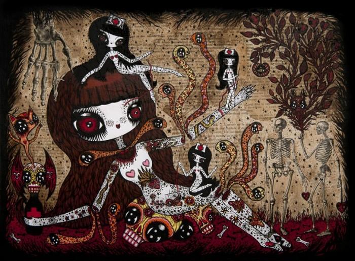 Страшно-милое искусство французской художницы Ciou