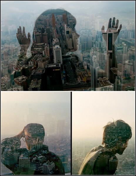 City Silhouettes, вид на Пекин сквозь силуэты людей
