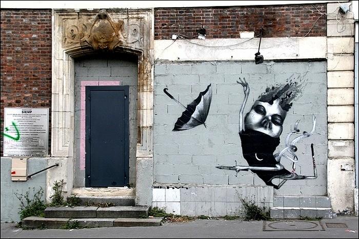 Сюрреалистический стрит-арт. Уличное творчество Клаудио Этоса (Claudio Ethos)