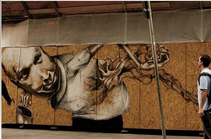Сюрреализм на стенах. Стрит-арт Клаудио Этоса (Claudio Ethos)
