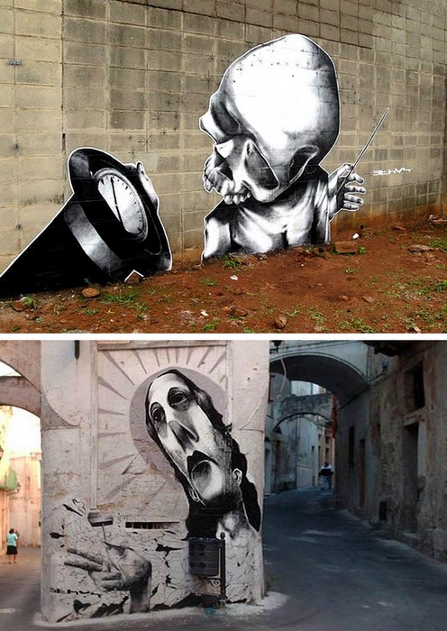 Уличное творчество Клаудио Этоса (Claudio Ethos)