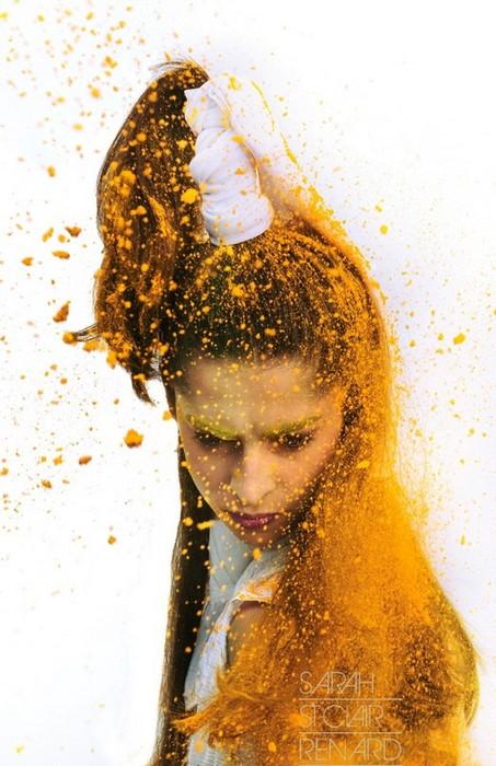 Color me crazy, арт-проект Sarah St. Clair Renard  с участием моделей и косметики