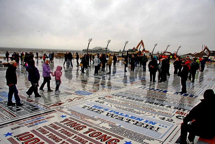 Comedy Carpet, крупнейшая инсталляция из бетона и гранита