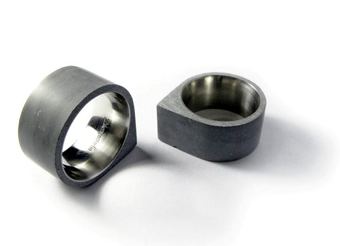 Кольца Concrete rings, брутальные украшения из бетона