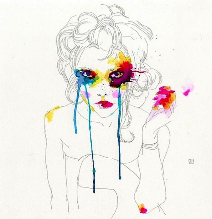 Цветные пятна придают музам Конрада Розета агрессивности и брутальности