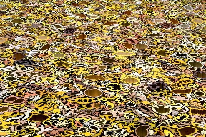 Construct, керамический ковер-паззл от Nathan Craven