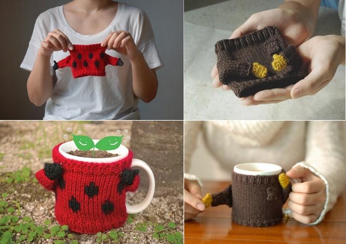 Уютный наряд для кофейной кружки. Mug Sweater  от Nawanowe