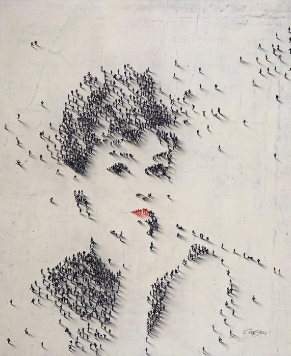 Портреты из человечков-пикселей