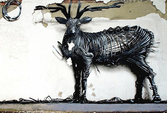 Скульптуры в виде граффити. Уличное искусство от DALeast