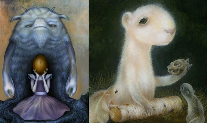Странные создания странных картин Дэна Мэя (Dan May)