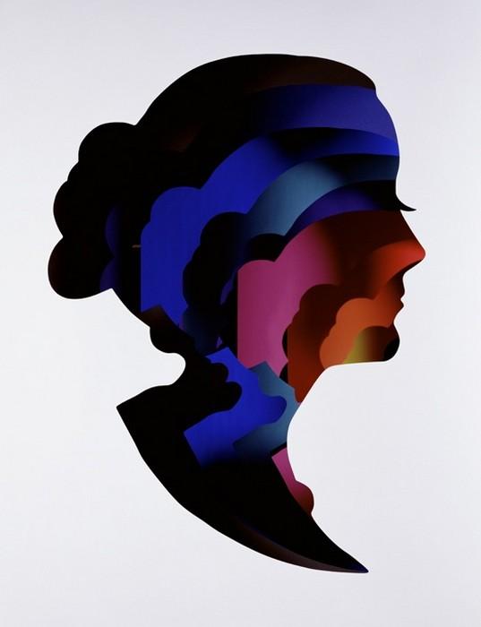 Paper Profiles, многослойные силуэты от Dan Tobin Smith