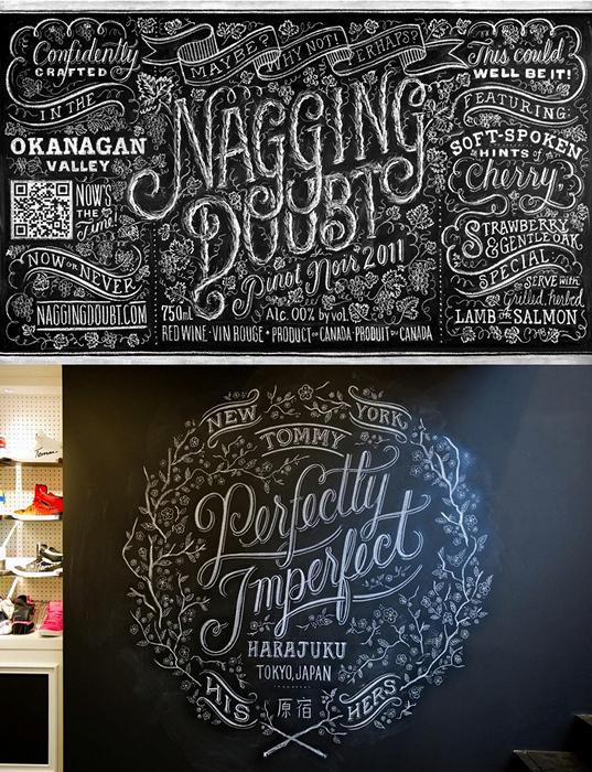 Типографика белым мелом. Ретро-афиши от Dana Tanamachi