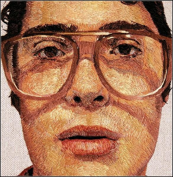Портреты, *нарисованные* иголкой и нитками