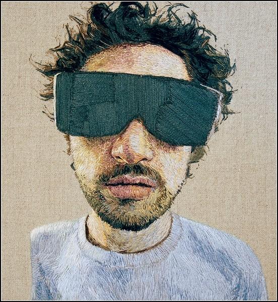 Реалистичная портретная вышивка Даниэля Корнрампфа (Daniel Kornrumpf)