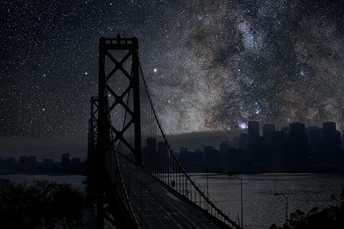 Звезды над Сан-Франциско. Арт-проект Darkened Cities