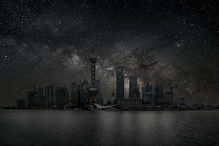 Звезды над Шанхаем. Арт-проект Darkened Cities