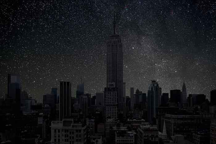 Звезды над Нью-Йорком. Арт-проект Darkened Cities