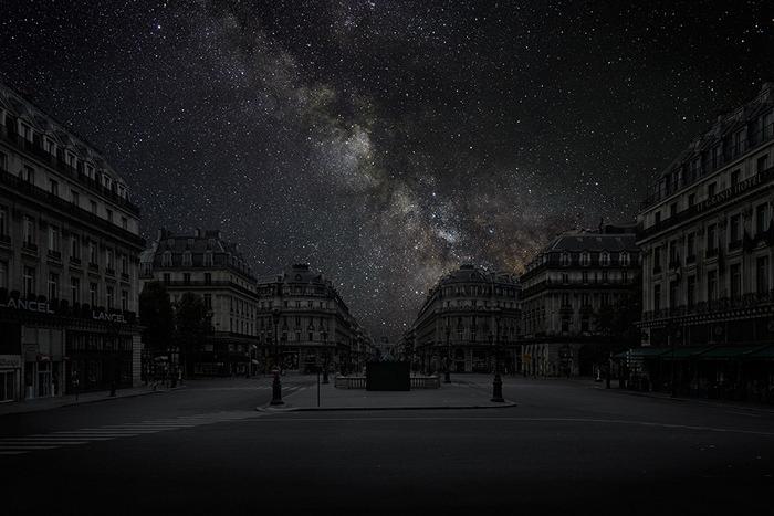 Звезды над Парижем. Арт-проект Darkened Cities