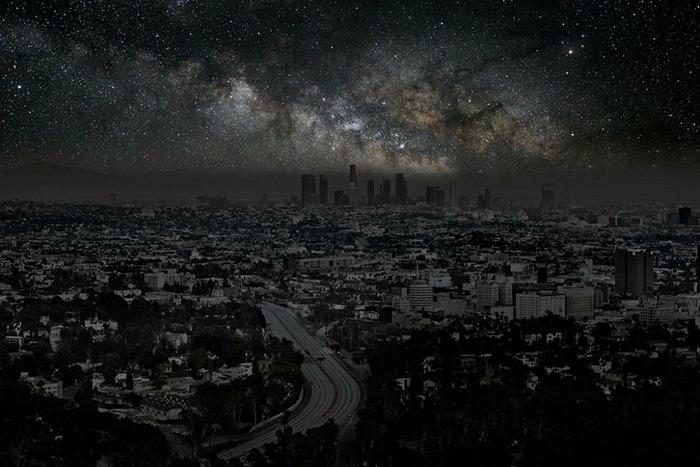 Звезды над Лос-Анджелесом. Арт-проект Darkened Cities