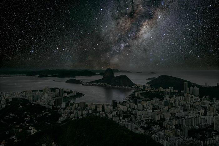 Звезды над Рио-де-Жанейро. Арт-проект Darkened Cities