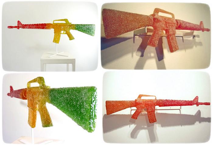 Пистолеты - не конфеты. Арт-проект Candy Colts от Darren Lago