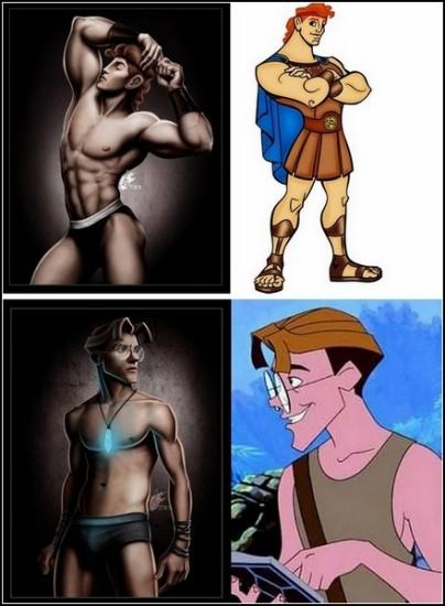 Секс-символы из диснеевских мультфильмов. Интерпретация от David Kawena