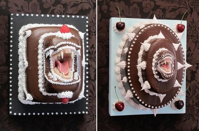 Your Deadly Desserts, зубастые торты-скульптуры Скотта Хоува