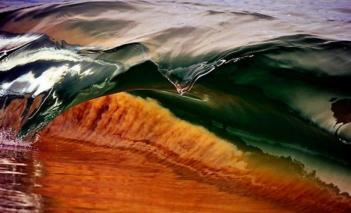 Миниатюрные волны в серии фотографий Waveart. Фотограф Деб Моррис (Deb Morris)