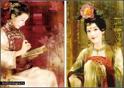 Восточные красавицы в портретах художницы Der Jen