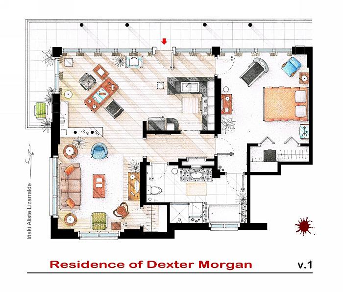 Квартира Декстера Моргана. Сериал *Декстер*