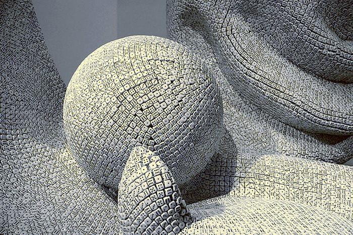 Скульптуры из игральных костей за авторством Тони Крэгга (Tony Cragg)