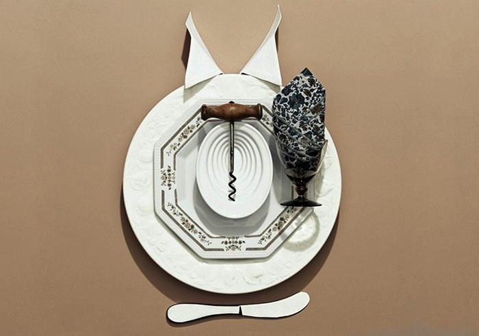 Dinner Etiquette, забавный фотопроект стильной посуды