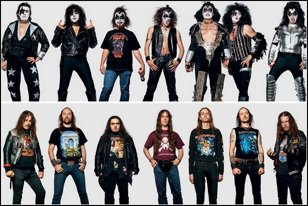 KISS и Iron Maiden