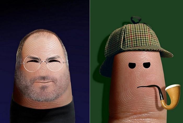 Стив Джобс и Шерлок Холмс. Портреты на пальцах в арт-проекте Ditology