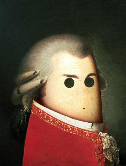 Моцарт. Портреты на пальцах в арт-проекте Ditology