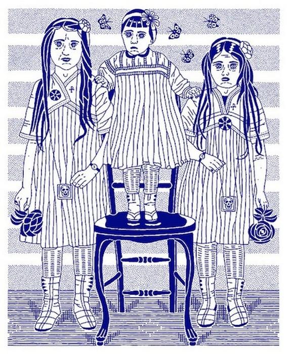 Сине-белый минимализм рисунков от Дмитрия Борща (Dmitry Borshch)