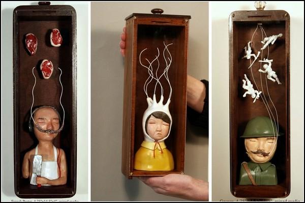 Мрачные сюрреалистические скульптуры от DoubleParlour