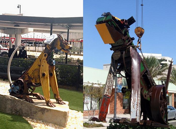 Собаки-роботы из металлолома. Скульптуры Дуга Мейкемсона (Doug Makemson)