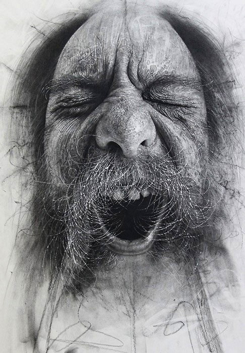 CitizenScapes от Дугласа МакДугалла. Портреты маргиналов, нарисованные углем