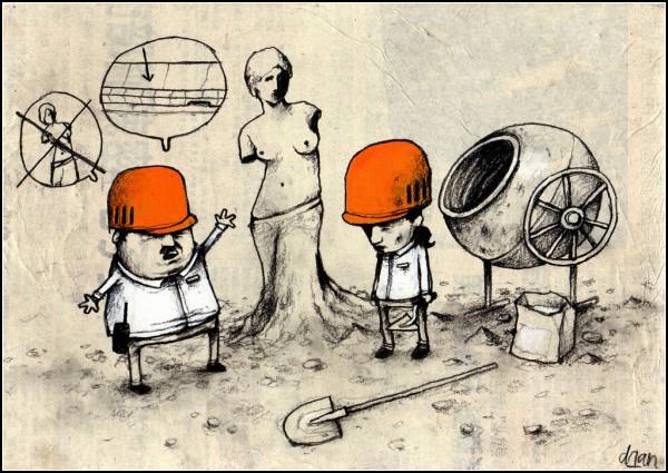 Циничные рисунки-карикатуры художника Dran