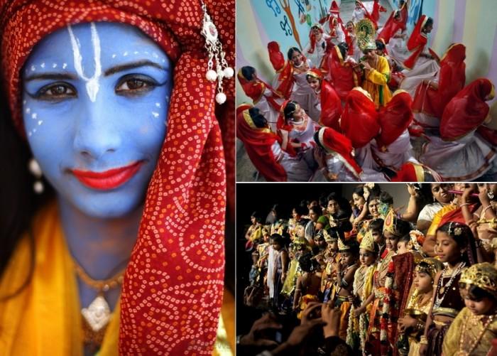 Krishna Janmashthami, индийский праздник ко дню рождения Кришны