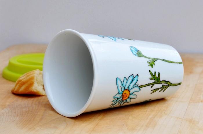 Расписные кружки EcoCups. Арт-посуда из керамики от Ирины Либ (Irina Lib)