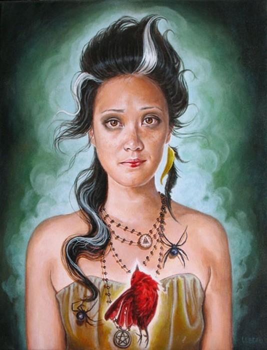 Персонажи из легенд и мифов в *ролевых портретах* Edith Lebeau