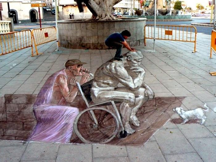 Трехмерные граффити-иллюзии Эдуардо Релеро (Eduardo Relero)