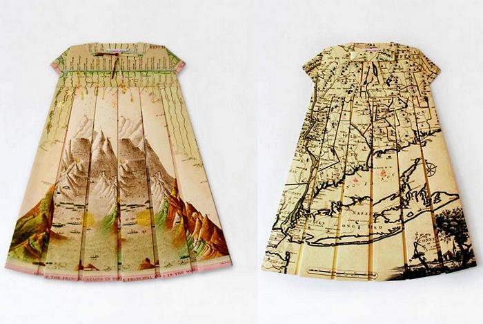 Географические платья от Элизабет Лекурт (Elisabeth Lecourt)