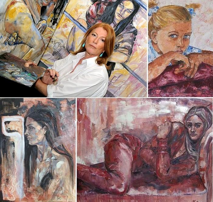 Картины, нарисованные вином, от Элизабетты Рогаи (Elisabetta Rogai)