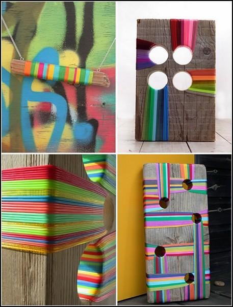 Игры с деревом и цветными полосками от Эллы Робинсон (Ella Robinson)