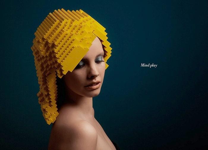 Mindplay: bricks on me. Прически из Лего в арт-проекте Элроя Клее (Elroy Klee)