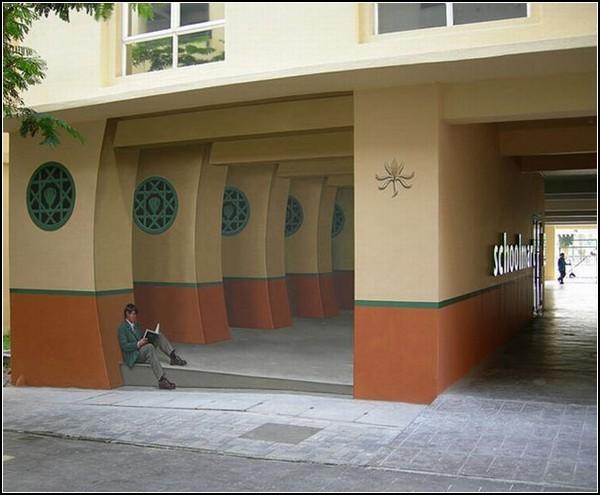 Объемные реалистичные фрески  Эрика Гроха (Eric Grohe)